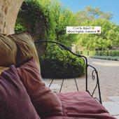 La chance d'avoir des hôtes ayant un œil de photographe.  📷 🙏🏻 @lppdcha   #chambredhotes #guesthouse #maisondhotes #lefooding #weekend #uzes #southoffrance #slowlife #maisonpleinsud